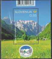 SLOVENIA ,2019, MNH, MOUNTAINS, LANDSCAPES, LOGAR VALLEY NATURE PARK, S/SHEET - Geology