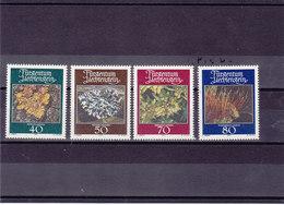 LIECHTENSTEIN 1981 MOUSSES LICHENS Yvert 717-720 NEUF** MNH - Liechtenstein