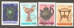 France: Full Set Of 4 Used Stamps, Decorative Art, 1994, Mi#3000-3003 - Francia