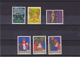 LIECHTENSTEIN 1981 Yvert 705-706 + 716 + 729-731 NEUF** MNH - Liechtenstein