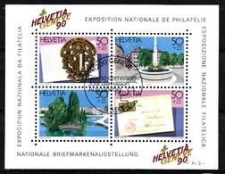 Suisse 1990 Mi.Nr: Block 26 Briefmarkenausstellung  Oblitèré / Used / Gebruikt - Gebruikt