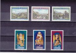 LIECHTENSTEIN 1982  Yvert 747-749 + 754-756 NEUF** MNH - Liechtenstein
