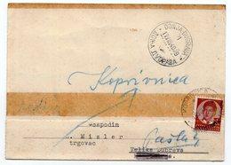 1940 YUGOSLAVIA, CROATIA, KOPRIVNICA TO DONJA DUBRAVA, CORRESPONDENCE CARD - 1931-1941 Kingdom Of Yugoslavia