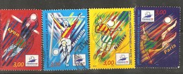 France: Full Set Of 4 Used Stamps, Football World Cup, 1997, Mi#3218-3221 - Francia