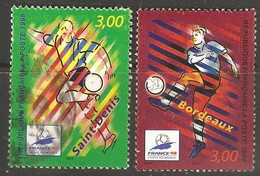 France: Full Set Of 2 Used Stamps, Football World Cup, 1997, Mi#3270-3271 - Francia