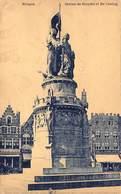 Brugge Bruges Statue De Breydel De Coning Standbeeld Op De Markt. Café Royal Café Foy Café La Civière D'or Barry 1790 - Brugge