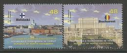 MK 2019-09A MK IN EU, NORTH MACEDONIA, 1 X 2v, MNH - Macédoine