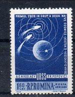 ROUMANIE Timbre Neuf ** De 1962   ( Ref 1252 D )  Espace - Unused Stamps
