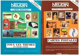 Lot 3 Catalogues Neudin 1988 1989 1990 Catalogue De Cartes Postales Theme Themes Meilleures Cartes , Très Bon état - Livres