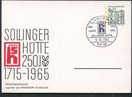 KINDERDORF SOLLING  Bund PP34 C2/004 Sost.Uslar 1965  NGK 15,00 € - Kind & Jugend