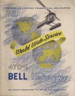 Aviation - Hélicoptère BELL 47 D-1 - Rare - Publicités