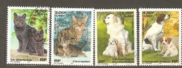 France: Full Set Of 4 Used Stamps, Cats And Dogs, 1999, Mi#3424-3427 - Francia
