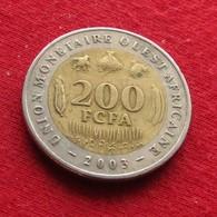 West African States 200 Francs 2003 KM# 14 Africa Ocidental Ouest Africaine Afrika Afrique - Autres – Afrique