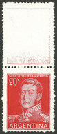 ARGENTINA: GJ.1034CA, With TOP LABEL (almost White), MNH, Excellent Quality, Very Rare! - Argentina