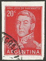 ARGENTINA: GJ.1034P, Used IMPERFORATE Example, VF Quality, Very Rare! - Argentina