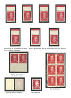 ARGENTINA: GJ.1039 + 1040 + 1041, 40c. San Martín Typographed And Offset, On Chalky And Unsurfaced Papers, Study Of The  - Argentina