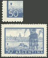 """ARGENTINA: GJ.1043b, With Variety """"Buoy In The Estuary"""", VF And Scarce!"""" - Argentina"""