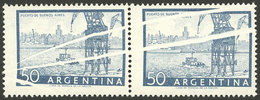 ARGENTINA: GJ.1043, Pair With Large And Notable PAPER FOLDS, Excellent! - Argentina