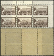 ARGENTINA: GJ.1045, 1P. Cattle, Block Of 6 With End-of-roll DOUBLE PAPER, VF Quality! - Argentina