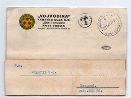 1937 YUGOSLAVIA,SERBIA,NOVI VRBAS,POSTAGE DUE,VOJVODINA OIL FACTORY,CORRESPONDENCE CARD - 1931-1941 Regno Di Jugoslavia