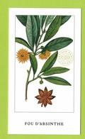 Cartes Parfumées Carte FOU D'ABSINTHE  De L'ARTISAN PARFUMEUR   Recto Verso - Cartes Parfumées