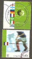 France: Full Set Of 2 Used Stamps, Football World Cup In 20 Century, 2002, Mi#3620-3621 - Usados