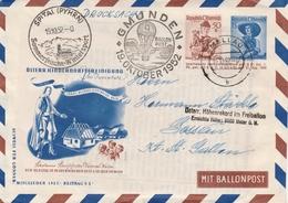 Autriche Entier Postal Illustré Poste Par Ballon 1952 - Postwaardestukken