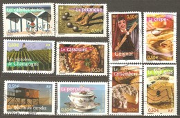 France: Full Set Of 10 Used Stamps, Aspects Of Regions, 2003, Mi#3698-3707 - Usados