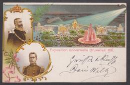 1897 Bruxelles Exposition Universelle Litho Couleur - Mostre Universali