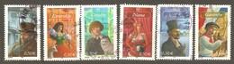 France: Full Set Of 6 Used Stamps, Personages Of French Novels, 2003, Mi#33730-3735 - Usados