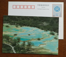 Colorful Pools,Calcified Landform,China 2000 UNESCO World Heritage Huanglong Scenic And Historic Area Pre-stamped Card - Other