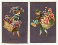 2 Cartes  Souvenir - Fantaisies