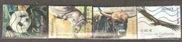 France: Full Set Of 4 Used Stamps, Rare Animals, 2009, Mi#4705-4708 - Usados