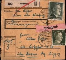 ! 1943 Paketkarte Deutsches Reich, Elsterberg - Deutschland