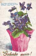 AK Veilchen - Gedenke Mein! - Gedicht - 1907 (45246) - Blumen