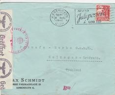 Danemark Lettre Censurée Pour L'Allemagne 1942 - Affrancature Meccaniche Rosse (EMA)