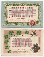2 Cartes Gaufrées 1905 - Mon Secret - Non Classés