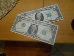 USA  1969     -    11   DOLLARS   -     2   BILLETS  LOT - Biljetten Van De  Federal Reserve (1928-...)