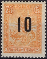 MADAGASCAR 120 * MLH Zébu Et Arbre Du Voyageur Ravenala 1903 (CV 8 €) 1 - Nuevos