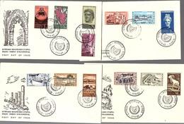 1962 RARE FDC Complete Set CV € 260,00 (428) - Chypre (République)
