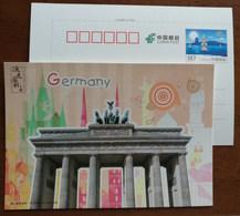 Germany Brandenburg Gate,Splendid G20 Members,China 2016 G20 Hangzhou Summit Advertising Pre-stamped Card - Altri