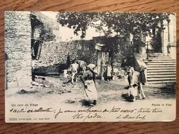 Un Coin De Viège, Partie In Visp, Animée, éd Burgy, écrite En 1909, Timbre - VS Valais