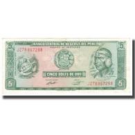 Billet, Pérou, 5 Soles De Oro, 1974, 1974-05-16, KM:99c, SPL - Perú