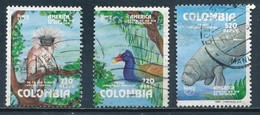 °°° COLOMBIA - Y&T N°870/71/73 PA - 1993 °°° - Colombia