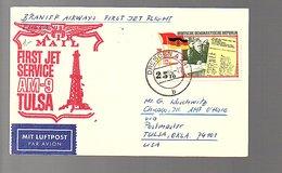 1965 Return Flight Dresden (scan = Front & Back) First Jet Flight Chicago AMF O'Hare (433) - DDR