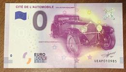 68 MULHOUSE CITÉ DE L'AUTOMOBILE BILLET 0 EURO SOUVENIR 2019 PAPER MONEY 0 EURO SCHEIN BANKNOTE CHANGE MONNAIE - Autres