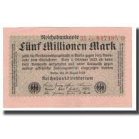 Billet, Allemagne, 5 Millionen Mark, 1923, 1923-08-20, KM:105, SUP - [ 3] 1918-1933 : République De Weimar