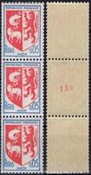 FRANCE 1468b ** MNH Armoirie Blason écu Auch :  N° Rouge Roulette (CV 3,00 €) [GR] - Coil Stamps