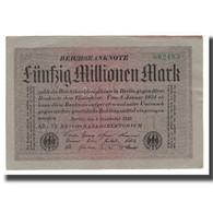 Billet, Allemagne, 50 Millionen Mark, 1923, 1923-09-01, KM:109a, TTB+ - [ 3] 1918-1933: Weimarrepubliek