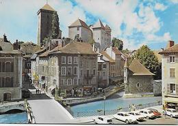 CPM- 74) Vieil Annecy - Au Pont Saint-François - Le Palais De L'isle Et Le Chateau ( Animées ). - Annecy